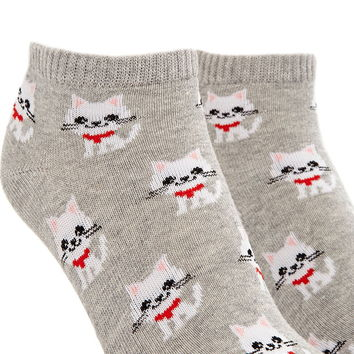 Cat Graphic Ankle Socks | Forever 21 - 2000170026