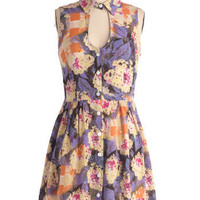 Haute Hydrangeas Dress | Mod Retro Vintage Dresses | ModCloth.com