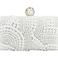CMoon Women's Casual Delicate Beaded Flap Pillow Type Evening Party Handbag