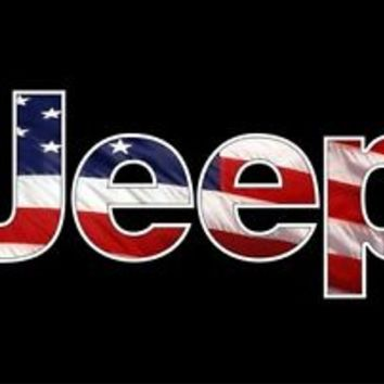 Jeep USA flag Camo Vinyl Decal Wrangler 4x4 CJ RubiconTruck window sticker