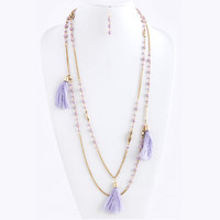 Tassel Link Layered Necklace