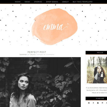 "Simple Blogger Template Blog Design - ""Emma"" 