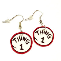 Dr. Seuss Thing 1 Earrings