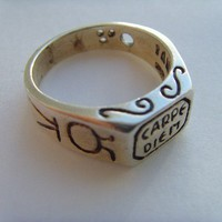 Carpe Diem Seize the Day Sterling Silver RING ALL SIZE