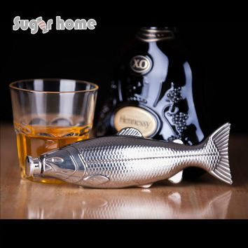 Mealivos personality fish shape 4 oz Food Grade Stainless Steel Hip Flask Alcohol Liquor vodka Whiskey Bottle gifts drinkware