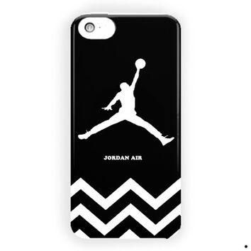 Chevron Black White Jordan Air For iPhone 5 / 5S / 5C Case