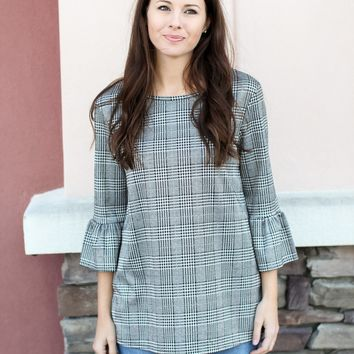 Preppy In Houndstooth Top
