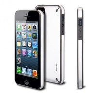 Apple iPhone 5/5S/SE Case - Poetic [Atmosphere Series] - [Lightweight] [Slim-Fit] Slim-Fit Tranparent Hybrid Case for Apple iPhone 5/iPhone 5S(2013)/ iPhone SE (2016) Clear/Gray (3 Year Manufacturer Warranty From Poetic)