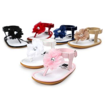 Baby Flower Pearl Sandals Toddler Princess First Walkers Girls Kid Shoes