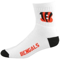 Cincinnati Bengals White Team Logo Woven Sock