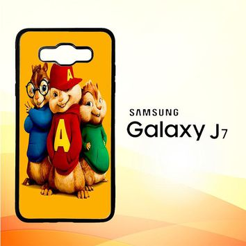 Alvin And The Chipmunks Character V 2074 Samsung Galaxy J7 Edition 2015 SM-J700 Case