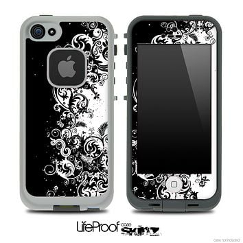 Abstract Black & White Swirls Skin for the iPhone 5 or 4/4s LifeProof Case