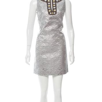 Tory Burch Embellished Silver Rosario Dress