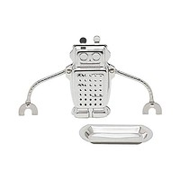 TEA AND COFFEE ACCESSORIES STAINLESS STEEL TEA INFUSER ROBOT
