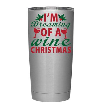 TREK Im Dreaming of a Wine Christmas 20 oz Tumbler Cup