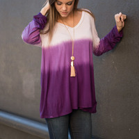 Layered Delight Tunic, Purple