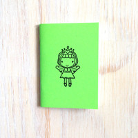 Small Notebook: Fairy, Princess, Green, Favor, Birthday, Neon, For Him, For Her, Jotter, Mini Journal, Small Notebook, Stamped, Unique YY339