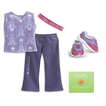 American Girl My AG Feeling Great Outfit for Dolls + Charm