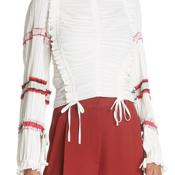 3.1 Phillip Lim Pleated Tie Ruched Blouse | Nordstrom