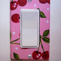 Pink Cherry Rocker / GFI Switchplate Switch Plate