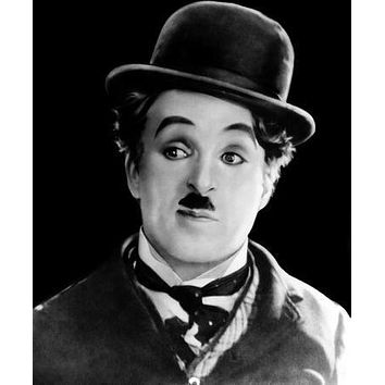 Charlie Chaplin Portrait poster Metal Sign Wall Art 8in x 12in