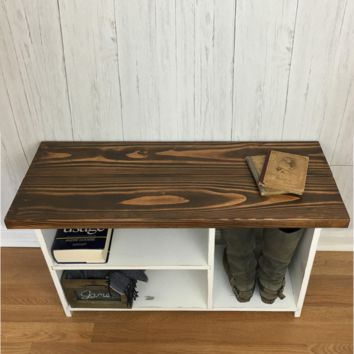 The Putnam Entryway Bench - Solid Wood, Handmade Bench with Shoe Storage