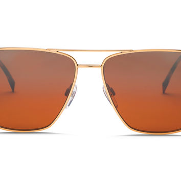 Electric - AV2 Rose Gold Sunglasses, OHM Rose Silver Chrome Gradient Lenses