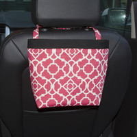 Car Headrest Caddy ~ Blossom Lattice ~ Black Band