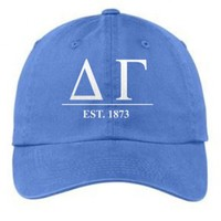 Delta Gamma Letters Year Embroidered Hat + Low Price