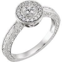 10K White 1-6 CTW Diamond Promise Ring