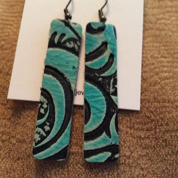 Fde1301 Handmade Leather Earrings