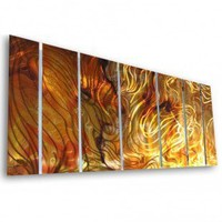 """All My Walls Abstract by Ash Carl Holographic Wall Art in Orange - 23.5"""" x 60"""" - SWS00038 - All Wall Art - Wall Art & Coverings - Decor"""