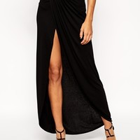 ASOS PETITE Wrap Maxi Skirt in Jersey