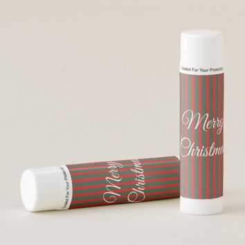 Red and Green Stripes Lip Balm