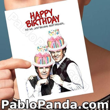 Funny Birthday Card | Step Brothers | Will Ferrell Friend Birthday Card Best Friend Birthday Boyfriend Gift Bff Gift Card For Men Card For