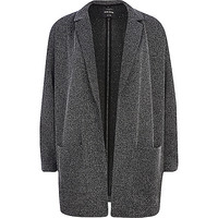 River Island Womens Grey tweed oversized blazer