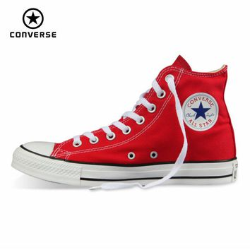 CONVERSE Original All Star shoes men and women's sneakers canvas shoes men women high classic Skateboarding Shoes