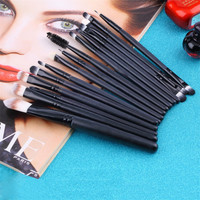 Women's 15 Piece Make Up Brush Set Eye Shadow Foundation Eyebrow Lip Makeup Tools Cosmetic