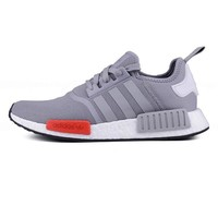 """""""Adidas"""" NMD Stylish Unisex Classic Casual Sports Sneakers Shoes Grey Red I"""