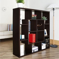 Furniture of America Lohan Symmetrical Geometric Bookshelf/Room Divider- Enitial Lab YNJ-1421-5