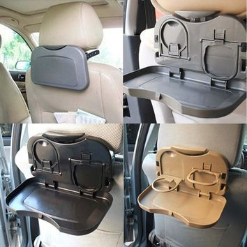 New 3 Colors Multifunction Car Back Seat Bottle Food Drink Cup Folding Tray Holder Useful Hot Selling