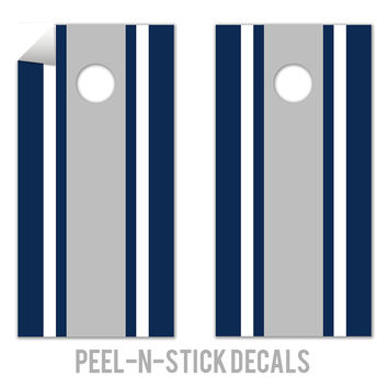 Classic Stripe - Blue, White, Grey Decals