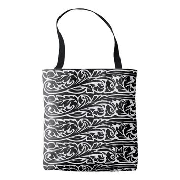 Monogram BW Flora Tote Bag