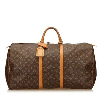 VLX9RV Louis Vuitton Keepall Bandouliere 60 Monogram Duffel Bag