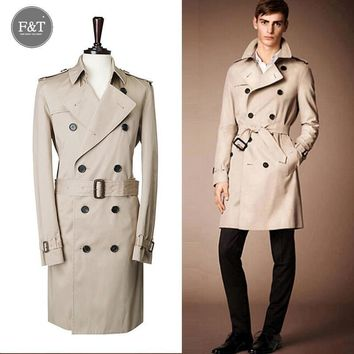 [Asian Size] Men winter British Style Winter Autumn Double-breasted trenches double-breasted coat for men, jacket windcoat