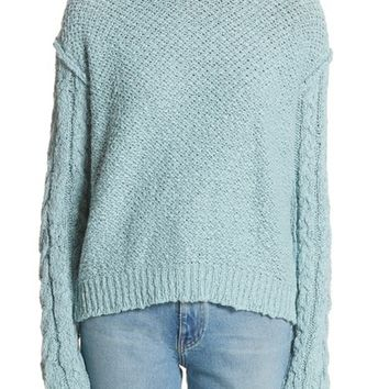 ACNE Studios Hila Cable Sleeve Sweater | Nordstrom