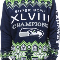 NFL Forever Collectibles Seahawks Super Bowl Sweater