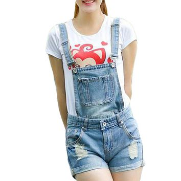 Short Casual Denim Overalls Women SummerSexy Rompers Womens Jumpsuit 2016 Jeans Playsuit  Bodysuit Jumpsuit BDK012