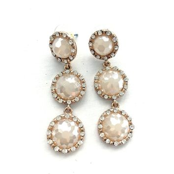 White Crystal Drop Earring