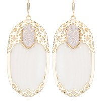 Deva Statement Earrings in White Glitz - Kendra Scott Jewelry